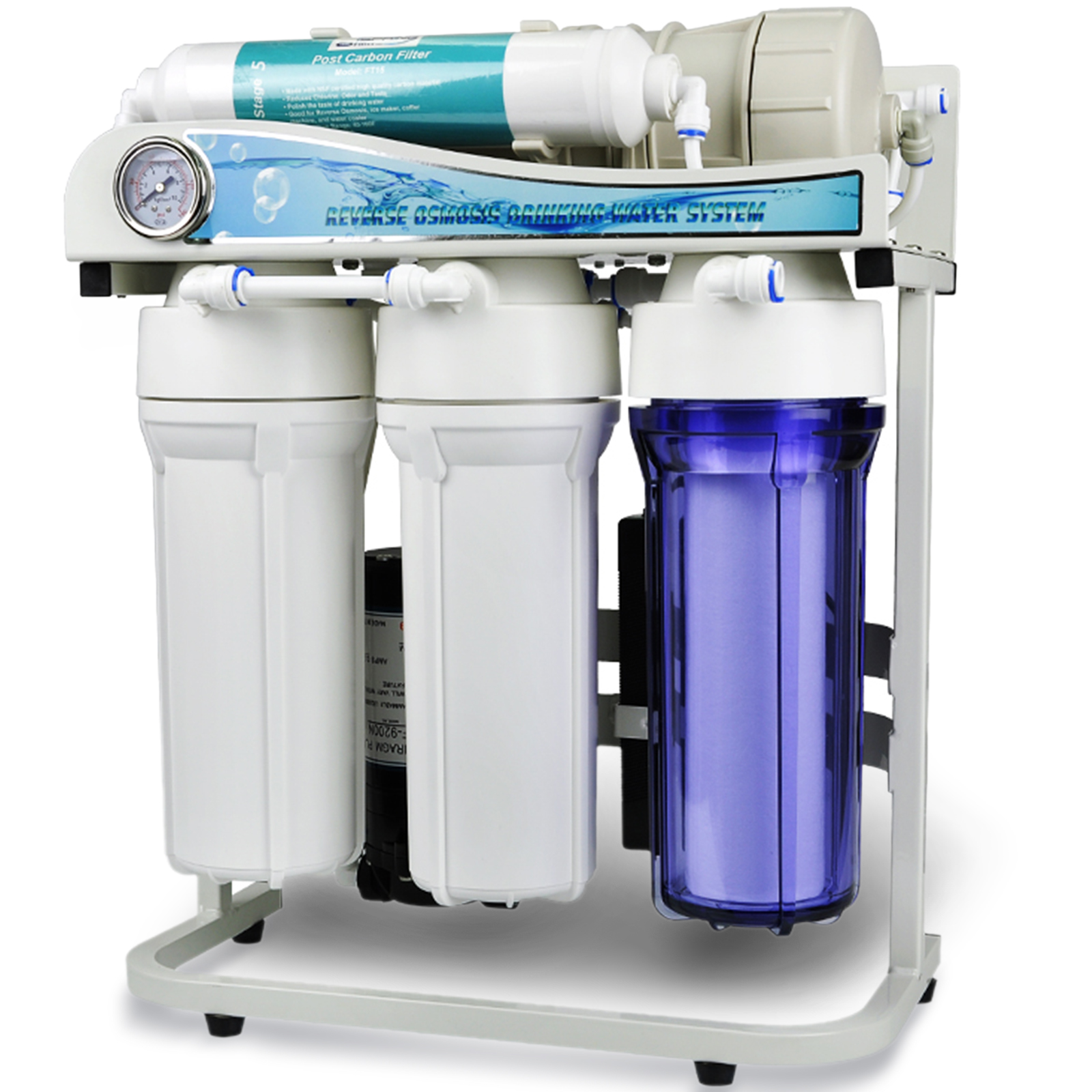 iSpring RCS5T 500 GPD Tankless Side-Flow Commercial 5-Stage Reverse Osmosis Water Filter System