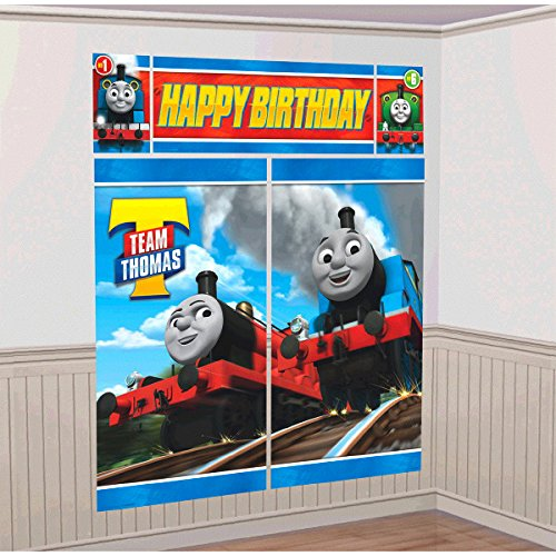 Thomas the Train Tank Engine ( Thomas & Friends ) Scene Setter Wall Decorations Kit - Kids Birthday and Party Supplies Decoration 2017, 5 PIECES WALL DECORATION.., By GoodyPlus