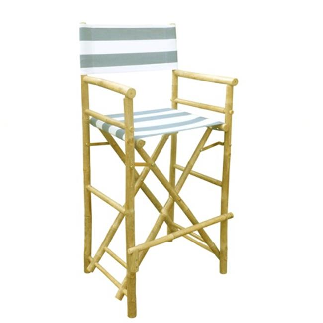 ZEW CH-192-0-22-Bamboo High Director Chair - Navy Stripes- SET 2