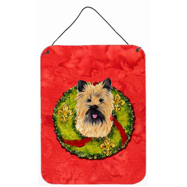 Carolines Treasures SC9081DS1216 Cairn Terrier Aluminium Metal Wall Or Door Hanging Prints - image 1 de 1