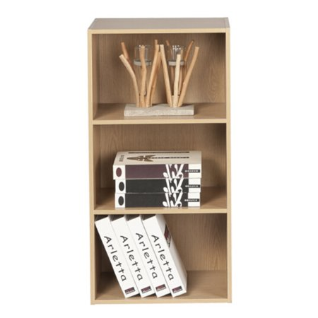Yosoo Wood Display Shelf Storage Bookshelf 3/4 Tier Bookcase Stand Rack Cube (Wood Storage Unit)