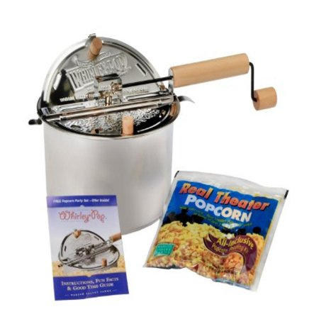 Whirley Pop 24003-AMZ Stovetop Popcorn Popper, Stainless Steel