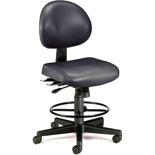 OFM 24 Hour Ergonomic Vinyl Computer Task Chair with Drafting Kit, Multiple Colors