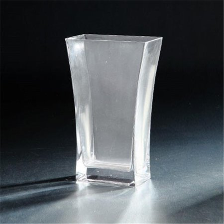 Diamond Star 64044 10 X 3 X 6 In  Flared Square Glass Vase  Clear