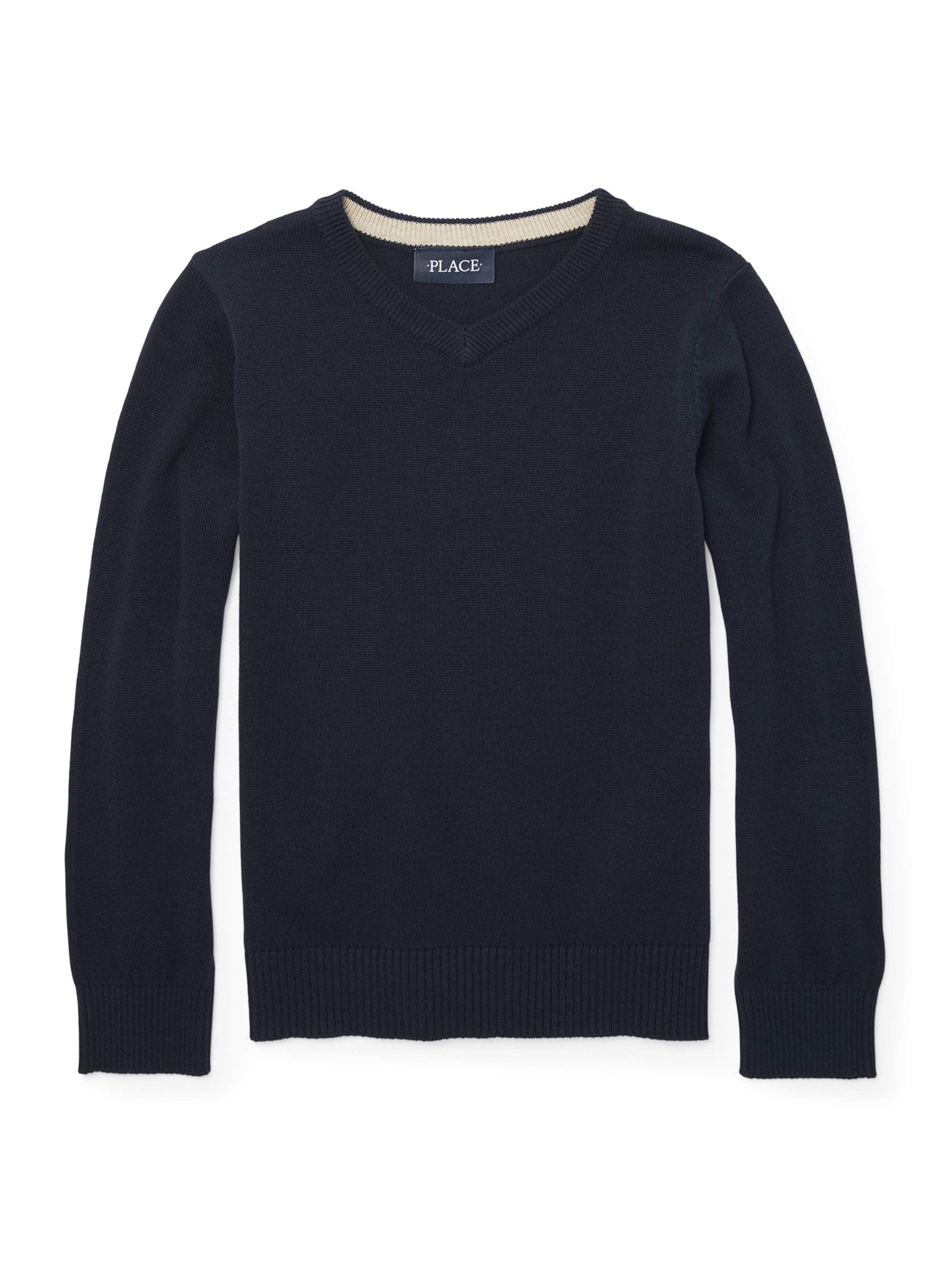 Long Sleeve V-neck Pull on Sweater (Little Boys & Big Boys)
