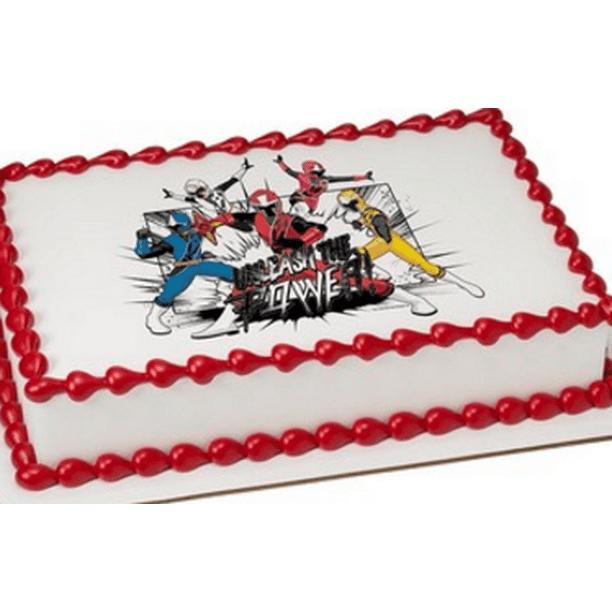 Fantastic Power Rangers Ninja Steel Edible Extra Large 8 X 10 Cake Funny Birthday Cards Online Inifodamsfinfo