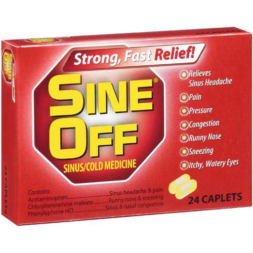 Sine Off:  Sinus/Cold Medicine, 24 Ct