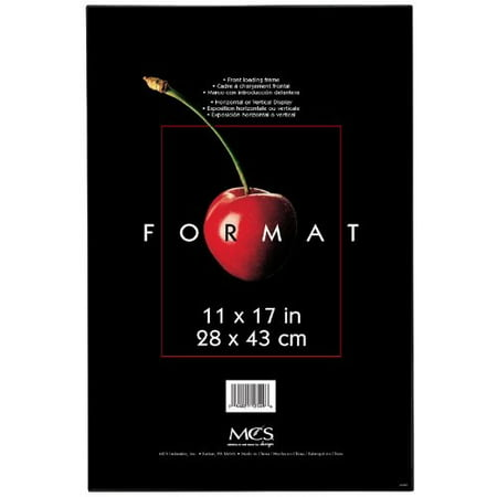 "MCS Plastic Format Frame for a 11"" x 17"" Photograph, Color; Black"