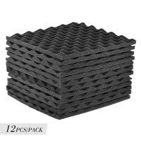 12 Pack Studio Acoustic Foams Panels Sound Insulation Foam 30 * 30cm/ 12 * 12in