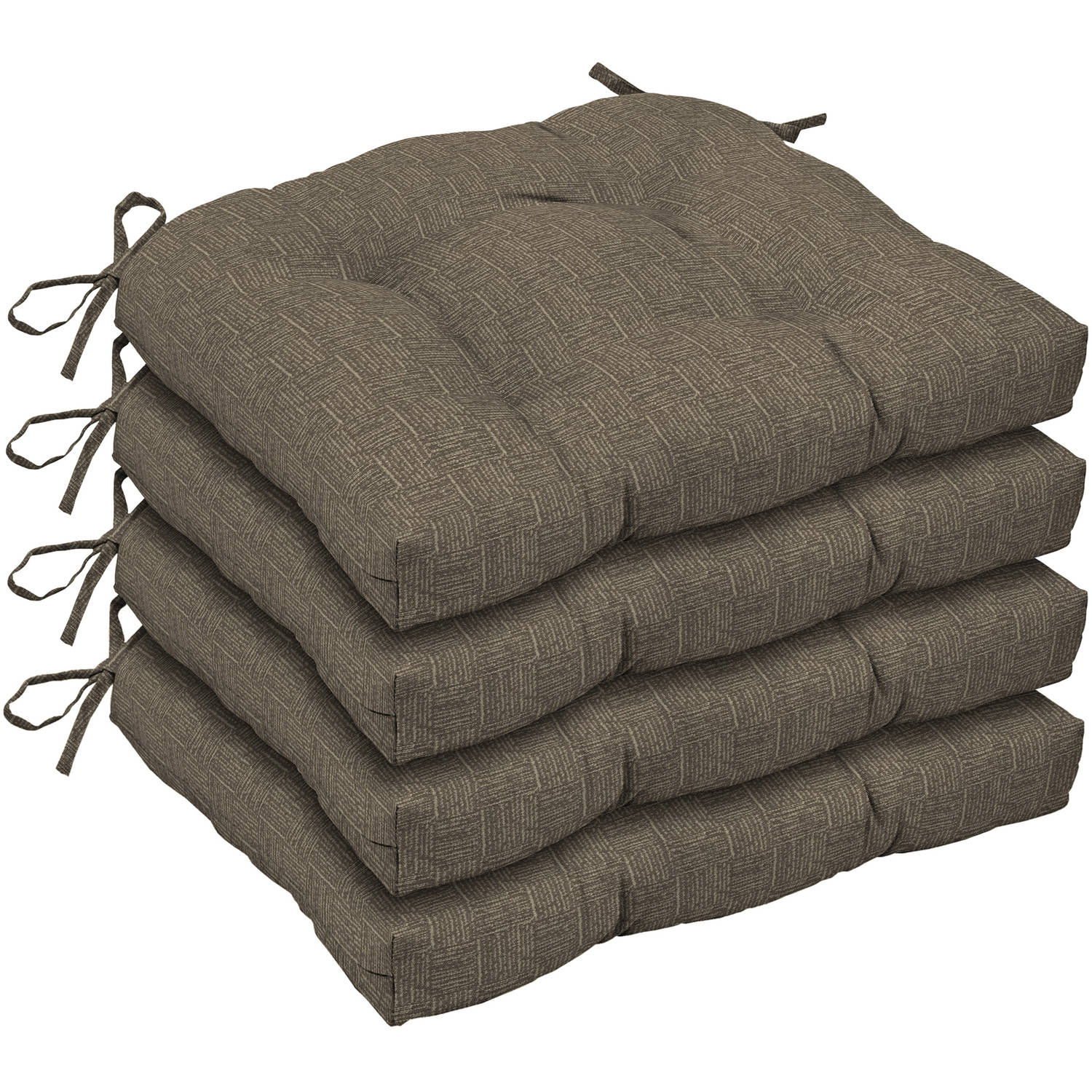Arden Outdoors Brown Woven Wicker Seat Cushion, Set of 4