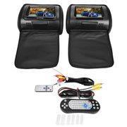 7inch Car Digital Screen Headrest DVD Video Player Monitor with Zipper Cover