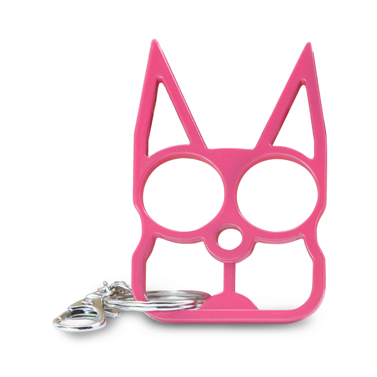 XHIVAR Metal Cat Key Chain Personal Protection Self-defense Keychain Key Ring (Pink)