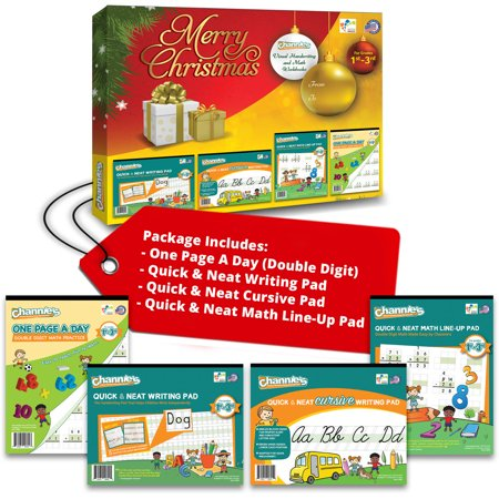 - Channie's Fun Visual Learning Pads Christmas Gift Edition For 1st - 3rd Grade (4 Workbooks with 1 Free Alphabet Card)