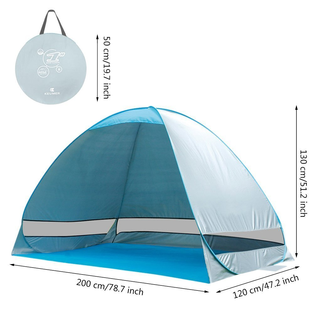 Kingmys Portable and Foldable Pop-up Anti UV Sun Shade Beach Tent Protection Nylon Cabana  sc 1 st  Walmart & Kingmys Portable and Foldable Pop-up Anti UV Sun Shade Beach Tent ...