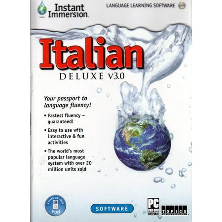 Italian Immersion Italian Language Deluxe 3 0