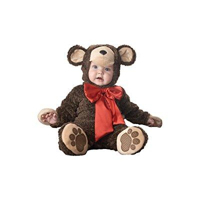 incharacter costumes baby's lil' teddy bear costume, brown, medium