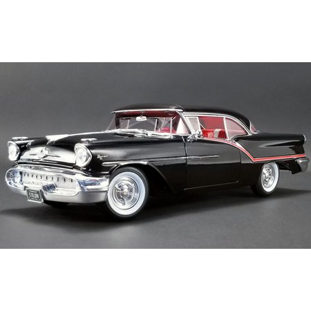 1957 Oldsmobile Super 88 Black with Red Stripes Limited Edition to 576 pieces Worldwide 1/18 Diecast Model Car by Acme