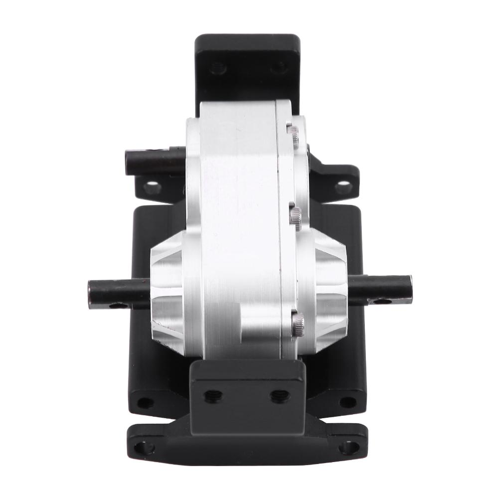 Metal Transfer Case Upgrade Components Parts with Mount Compatible with SCX10 Gearbox Transfer Case with Mount D90 1//10 RC Crawler Car