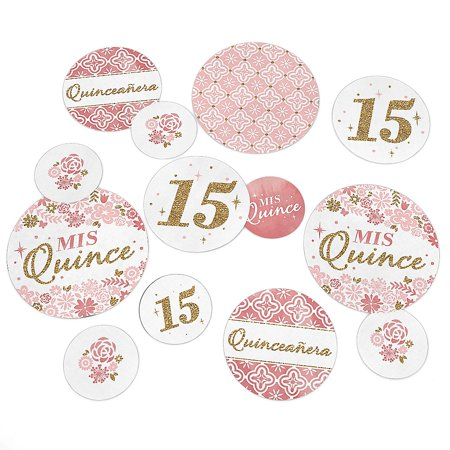 Mis Quince Anos - Quinceanera Sweet 15 Birthday Party Giant Circle Confetti - Party Decorations - Large Confetti 27 Count](Mis Quince Decorations)
