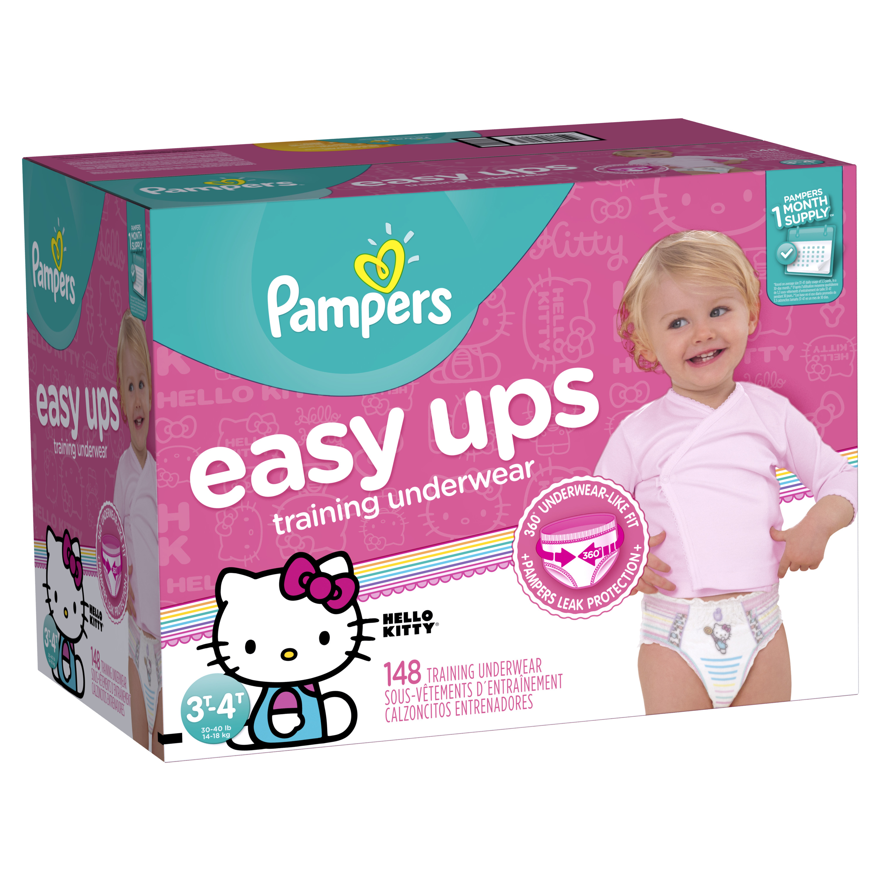 Pampers Easy Ups Girls Training Pants (Choose Size and Count)
