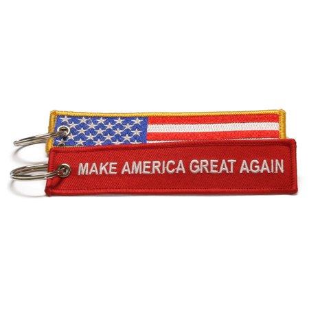 Trump Keychain Make America Great Again 2016 Donald for President USA Flag Key (Patriots Keychain)
