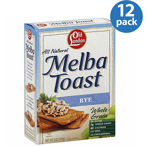 Old London All Natural Rye Melba Toast, 5 oz (Pack of 12)