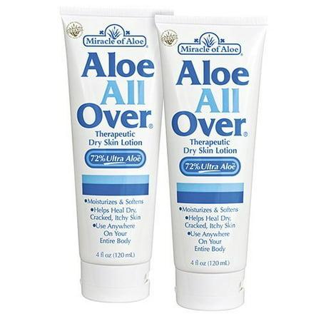 Aloe All over Dry Skin Lotion for Moisturizing Flaky Itchy Skin - 2 Pack 4 (Best Lotion For Dry Flaky Itchy Skin)