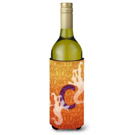 Halloween Ghosts  Initial  Letter C Wine Bottle Beverage Insulator Beverage Insulator Hugger