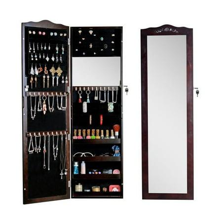 Organizedlife Wood Wall Or Door Mounted Jewelry Armoire