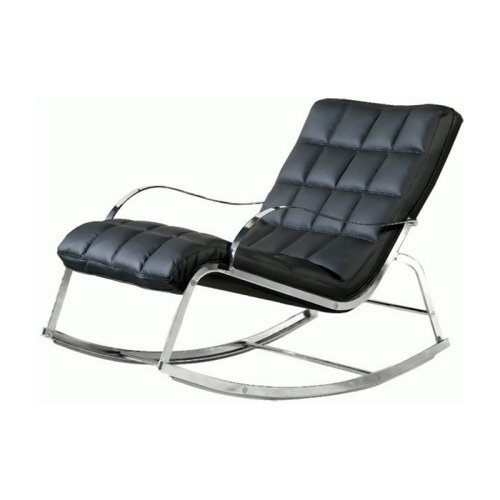 Chintaly Camry Indoor Lounge Rocking Chair - Black