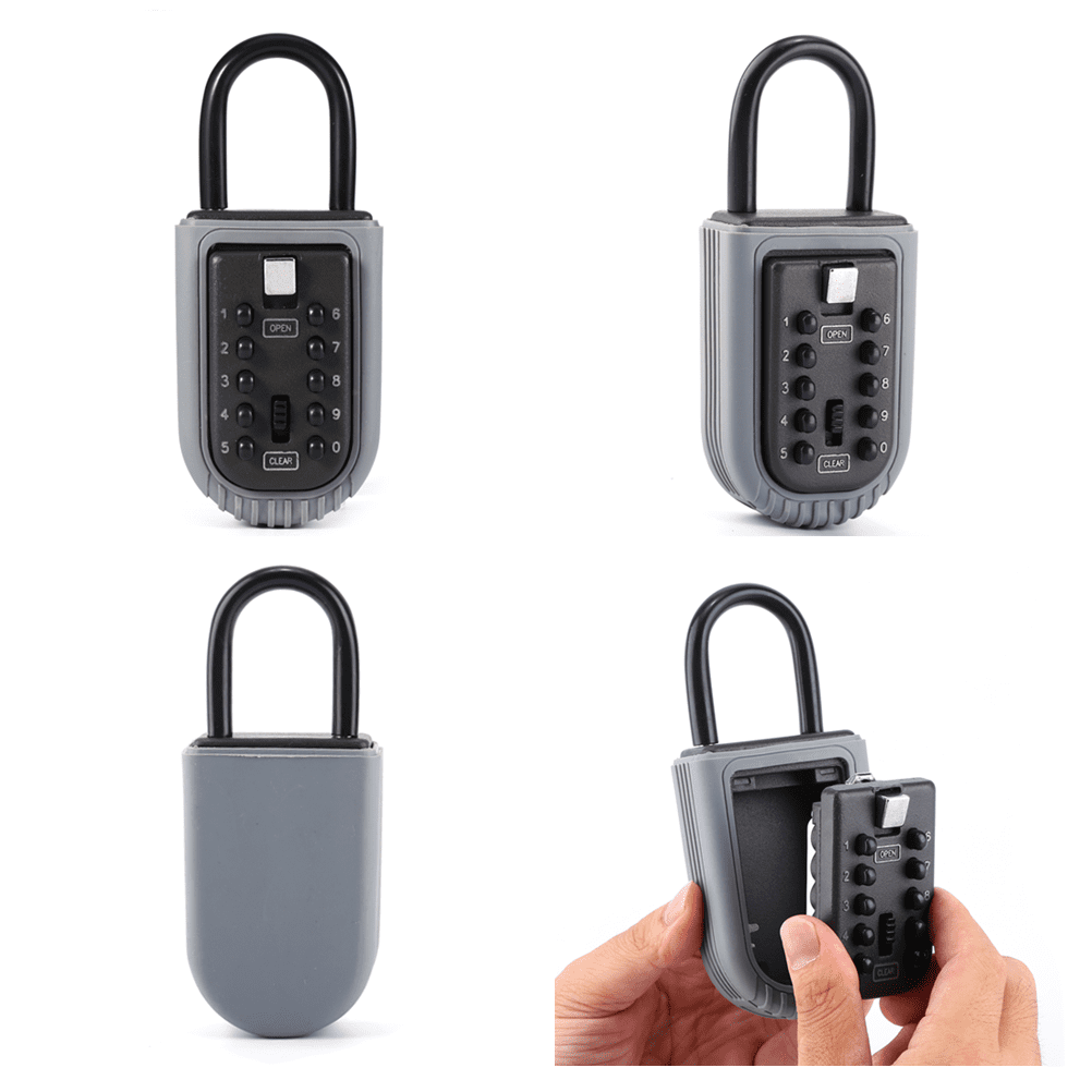 Combination Outdoor Key Safe Box Security Holder Case Lock Wall Mounted Car Home 10-Digit by