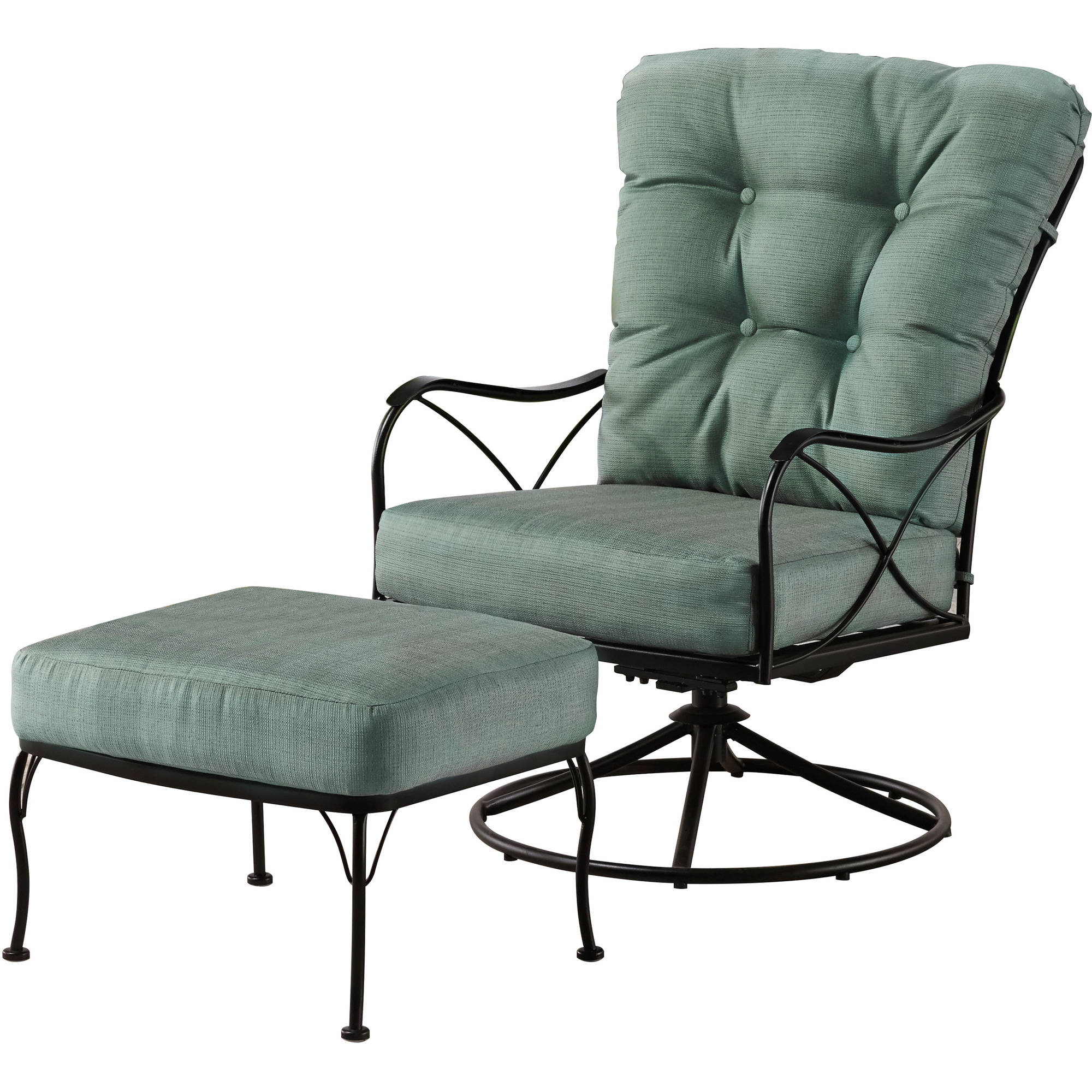 Better Homes And Gardens Seacliff Oversized Cuddle Chair With Ottoman   Walmart