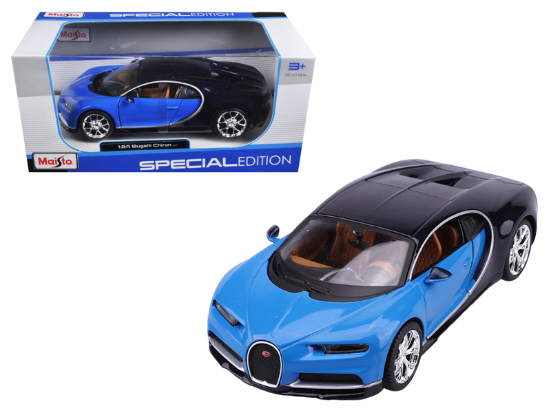 Bugatti Chiron Blue   Dark Blue 1 24 Diecast Model Car by Maisto by Maisto