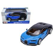 Bugatti Chiron Blue and Dark Blue 1/24 Diecast Model Car by Maisto
