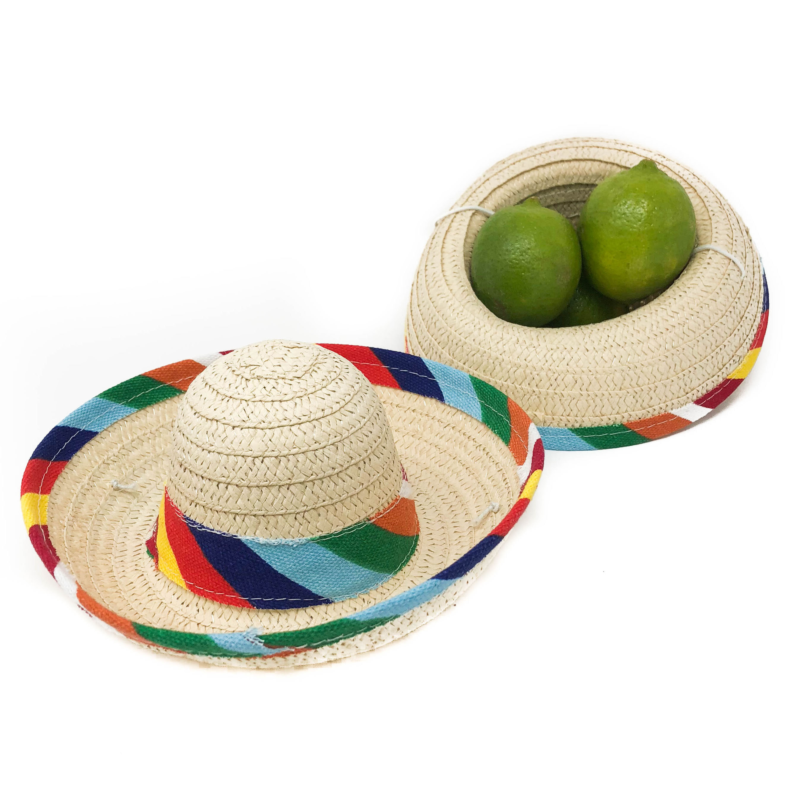 12 Mini Sombrero Fiesta Party Supplies - Mexican Themed Party Decorations (1 dozen)