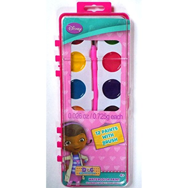 Disney's Doc McStuffins 12 Count Watercolor Paint Set (Doc McStuffins)