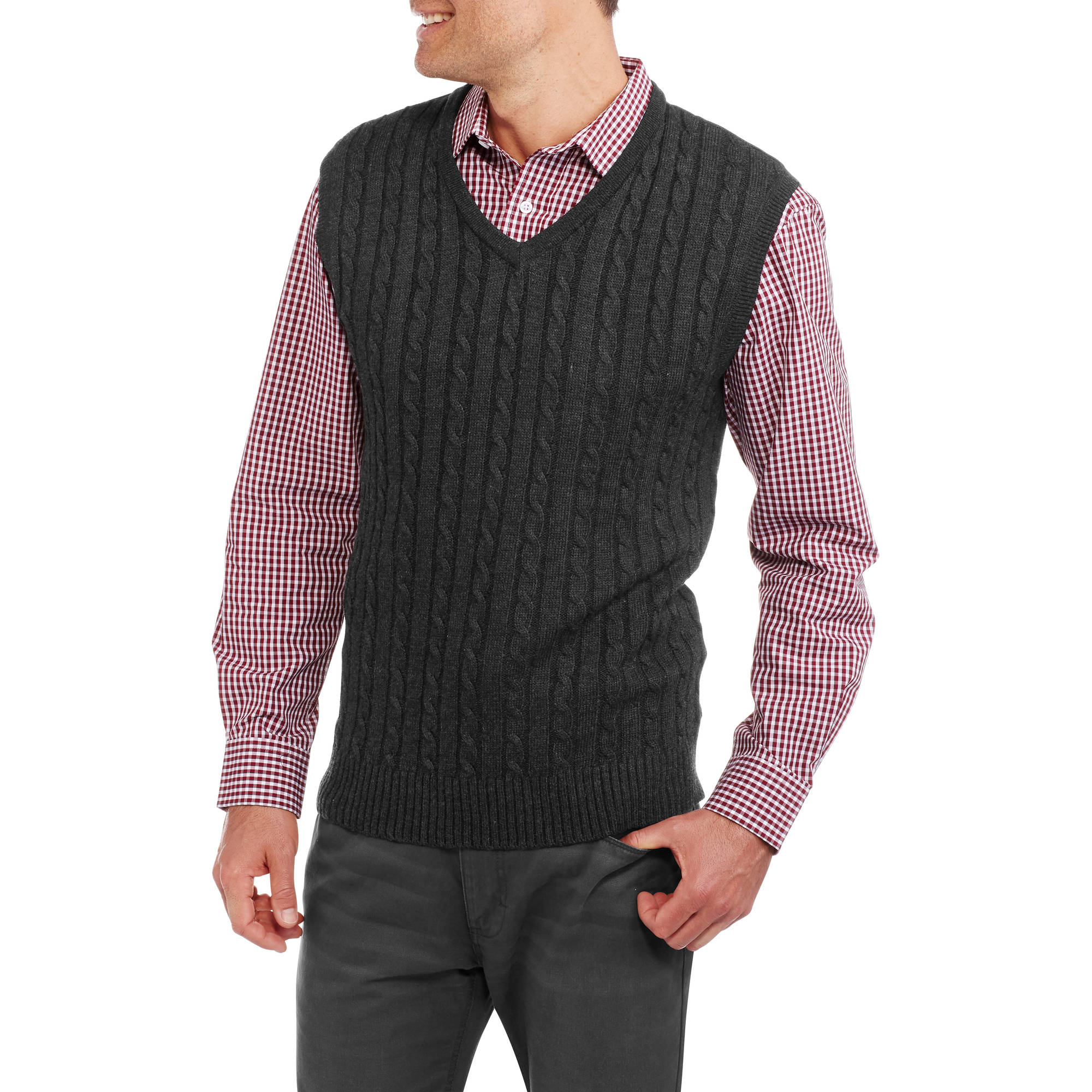 Sahara Club Men's Cable Knit Sweater Vest