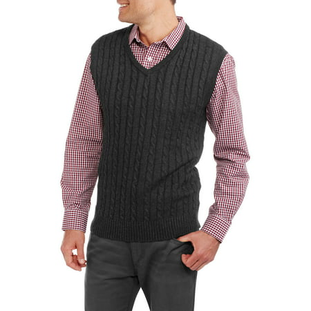 Sahara Club Men's Cable Knit Sweater Vest - Walmart.com