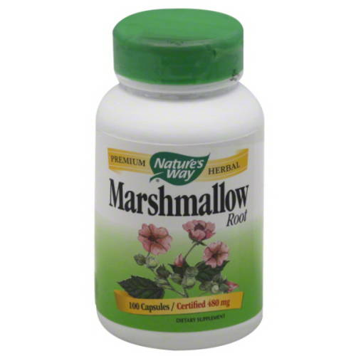 Nature's Way Marshmallow Root Dietary Supplement Capsules, 480mg, 100 count
