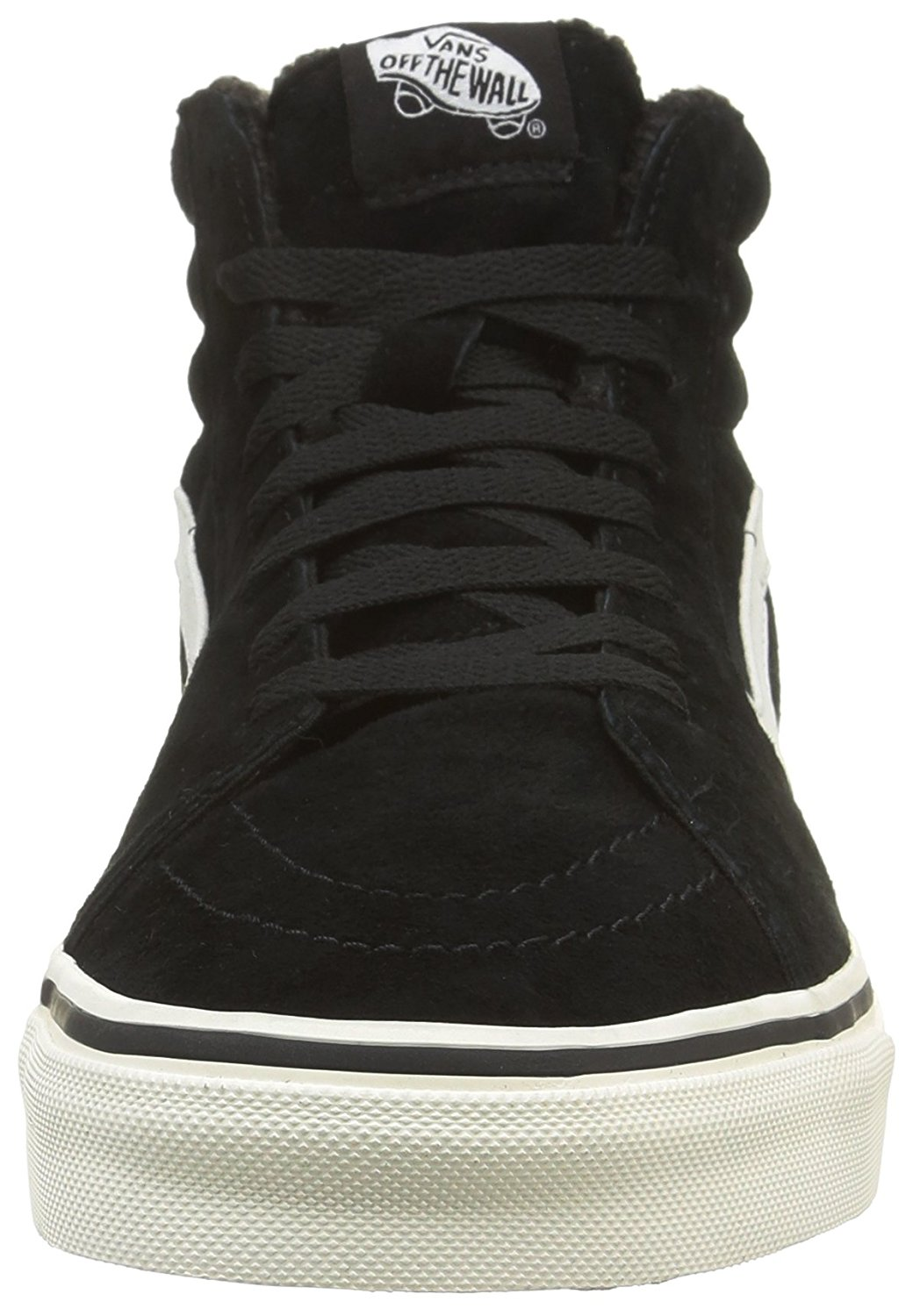 3c1cdf33785e0e Vans - Vans Sk8-Hi Pig Suede And Fleece Black   Blanc Ankle-High Skateboarding  Shoe - 12M 10.5M - Walmart.com
