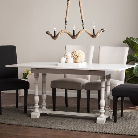 Southern Enterprises Edenderry Farmhouse Folding Trestle Console to Dining Table ()
