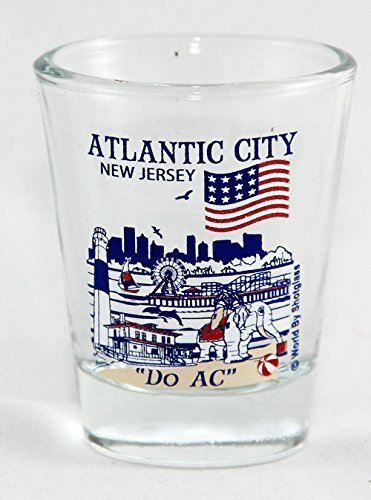 Atlantic City New Jersey Great American Cities Collection Shot Glass by World By Shotglass