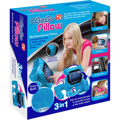 As Seen on TV GoGo Pillow Tablet Holder, Neon Blue