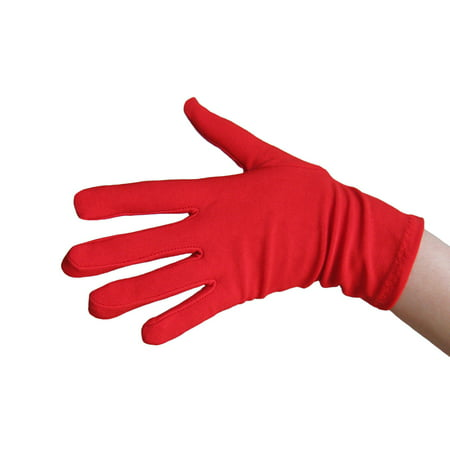 SeasonsTrading Red Costume Gloves (Wrist Length) - Prom, Dance, Party - Light Up Dance Costumes