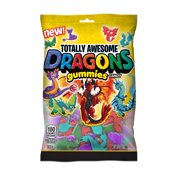 Totally Awesome Dragons Gummies Candy, Assorted Flavors, 3.8 Oz Bag