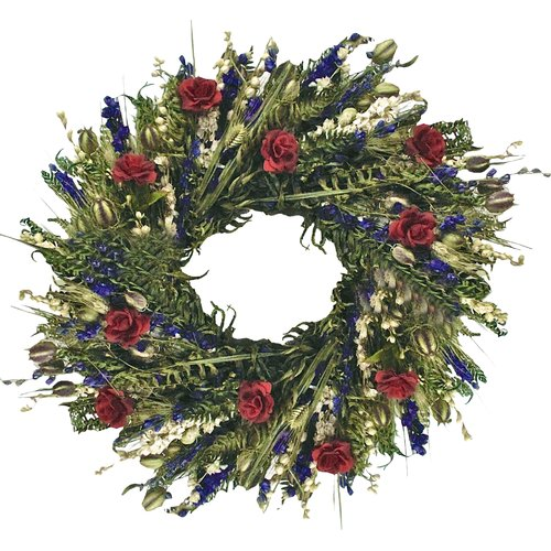 Dried Flowers and Wreaths LLC True Love 22'' Silk Wreath