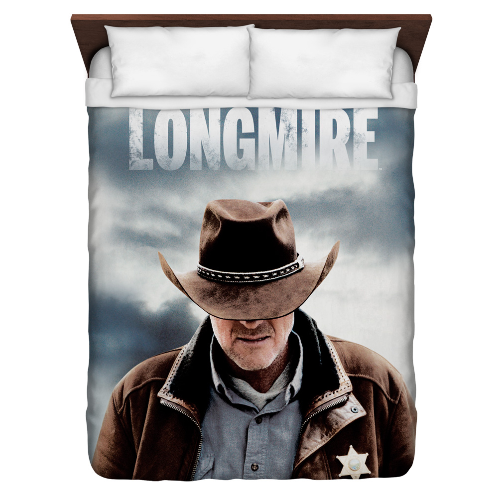 Longmire Sheriff Queen Duvet Cover White 88X88