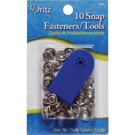 Dritz Snap Fasteners, 10 Count - Walmart com
