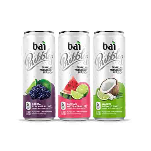 Bai Bubbles Antioxidant Infused Beverage, Sublime Variety Pack, 11.5 Fl Oz, 12 Count