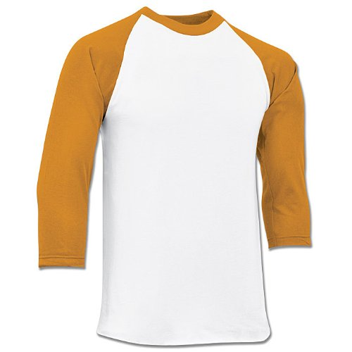 Champro Youth 3/4 Sleeve Jersey BS8Y (Gold, Medium)